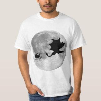 サンタクロースのドラゴンのライダーのそりの乗車 Tシャツ