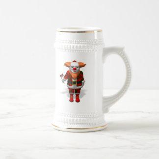 サンタクロースのピエロ ビールジョッキ