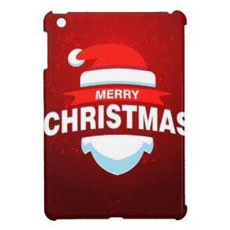 サンタクロースのメリークリスマスのクリスマスのかわいい赤 iPad MINIケース