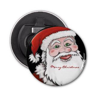 サンタクロースのメリークリスマスのボタン型栓抜き 栓抜き
