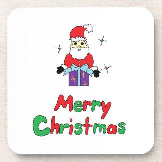 サンタクロースのメリークリスマス コースター