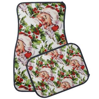 サンタクロースのヴィンテージのヒイラギのクリスマス カーマット