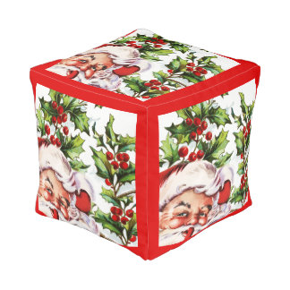 サンタクロースのヴィンテージの父のクリスマス プーフ