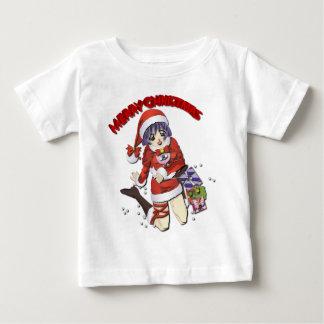 サンタクロースの女の子 ベビーTシャツ