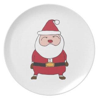 サンタクロースの季節の挨拶のプレート プレート