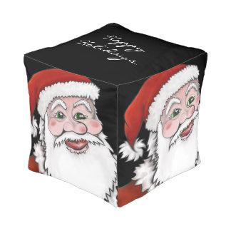 サンタクロースの幸せな休日のキューブパフ プーフ