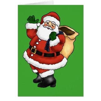 サンタクロースの幸せな振ること カード