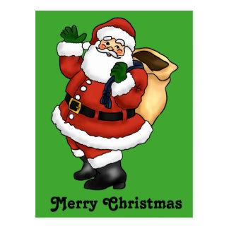 サンタクロースの幸せな振ること ポストカード