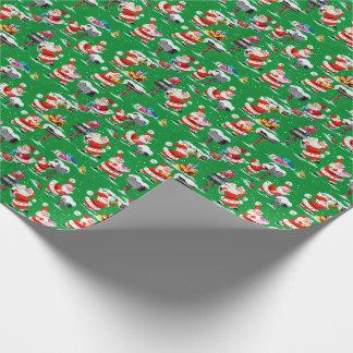 サンタクロースの旧式なクリスマスの包装紙 ラッピングペーパー