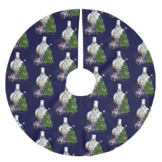 サンタクロースの甘いシェフ ブラッシュドポリエステルツリースカート
