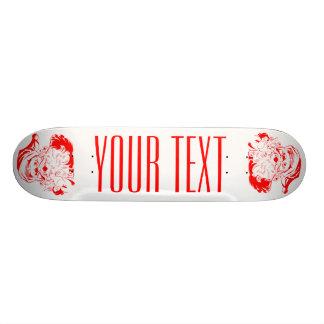 サンタクロースの赤と白のクリスマスのスケートボード 19.7CM スケートボードデッキ