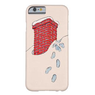 サンタクロースの足跡の煙突の雪 BARELY THERE iPhone 6 ケース