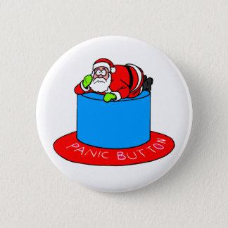 サンタクロースの非常ボタン 5.7CM 丸型バッジ