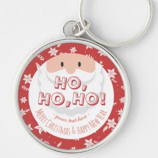 サンタクロースのHo Hoクリスマスの明けましておめでとうの休日 キーホルダー