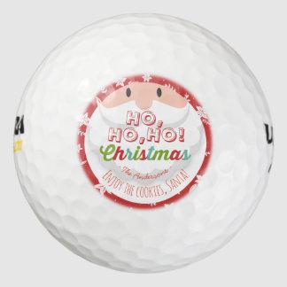 サンタクロースのHo Hoクリスマスの明けましておめでとうの休日 ゴルフボール