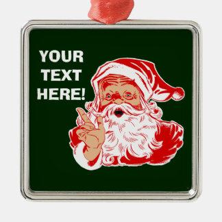 サンタクロースを個人化して下さい メタルオーナメント