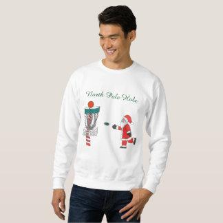 サンタクロース北極の穴ディスクゴルフスエットシャツ スウェットシャツ