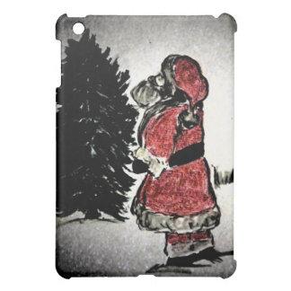 サンタクロース及び木 iPad MINIケース
