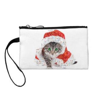サンタクロース猫-猫のコラージュ-子猫-猫愛 コインパース
