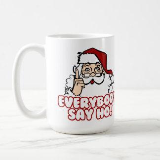サンタクロース-皆はHo言います コーヒーマグカップ