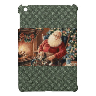 サンタクロースHolydaysのクリスマス鐘の赤い緑 iPad Mini カバー