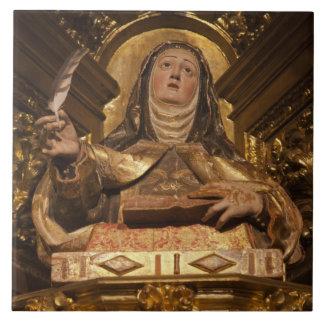 サンタテレサを表す宗教芸術 タイル