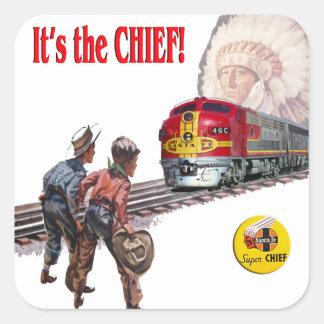 サンタフェによってすごい主な列車のステッカー スクエアシール