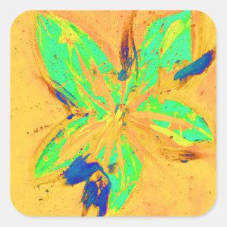 サンタフェは黄色を酸性染料で色落ちさせます 正方形シール・ステッカー