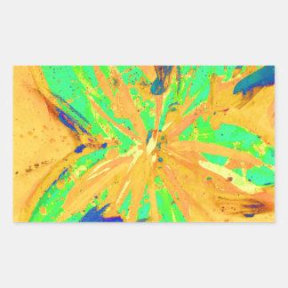 サンタフェは黄色を酸性染料で色落ちさせます 長方形シールステッカー