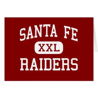 サンタフェ-侵入者-高等学校- Alachuaフロリダ グリーティングカード