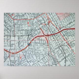 サンタホセのカリフォルニアのヴィンテージの地図ポスター ポスター
