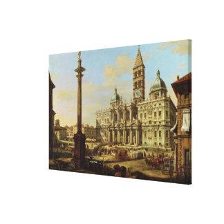 サンタマリアMaggiore、ローマ1739年 キャンバスプリント