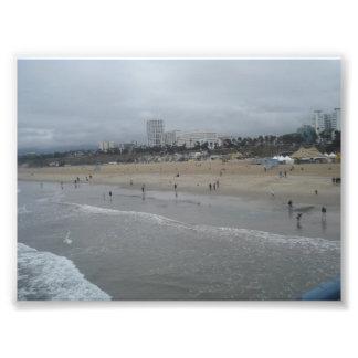 サンタモニカのビーチ フォトプリント