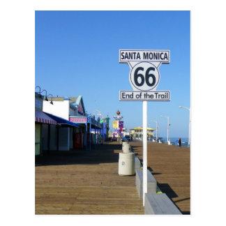サンタモニカのルート66の郵便はがき! ポストカード