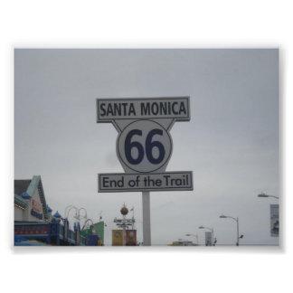 サンタモニカのルート66 フォトプリント