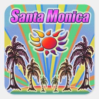 サンタモニカの夏愛ステッカー スクエアシール