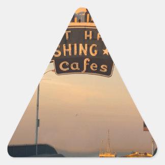 サンタモニカカリフォルニア 三角形シール