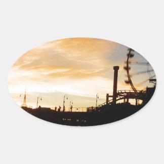 サンタモニカカリフォルニア 楕円形シール
