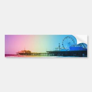 サンタモニカ桟橋の虹色 バンパーステッカー