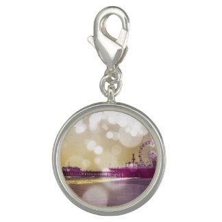 サンタモニカ桟橋の金紫色の《写真》ぼけ味 チャーム