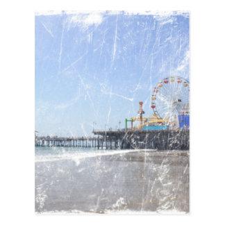 サンタモニカ桟橋-ぼろぼろのシックな写真は編集します ポストカード