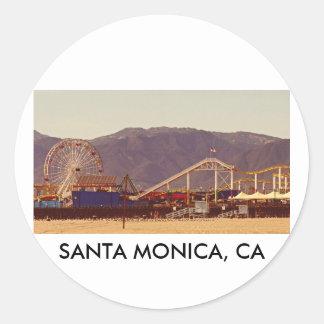 サンタモニカ桟橋-ステッカーシート ラウンドシール