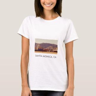 サンタモニカ桟橋-女性ベビードール Tシャツ