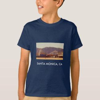 サンタモニカ桟橋-子供の暗闇のワイシャツ Tシャツ
