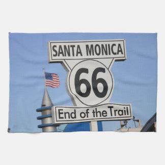 サンタモニカ桟橋-道の端 キッチンタオル