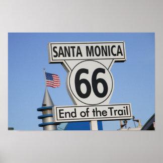 サンタモニカ桟橋-道の端 ポスター