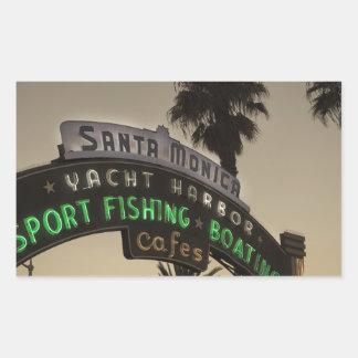 サンタモニカ桟橋 長方形シール