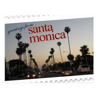 サンタモニカ、カリフォルニアからの挨拶 ポストカード
