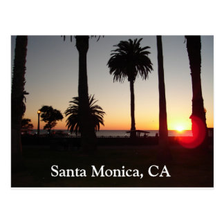 サンタモニカ、カリフォルニアの日没 ポストカード