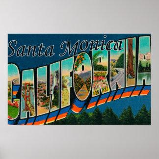 サンタモニカ、カリフォルニア-大きい手紙場面 ポスター